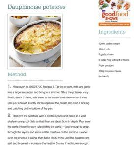 Dauphinoise potato recipe