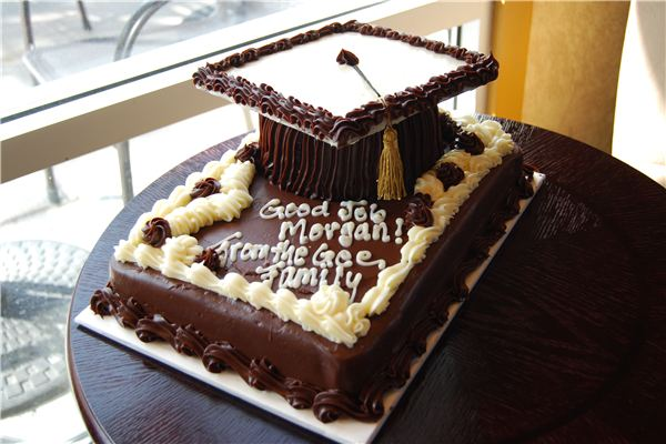 Graduation cakes chocolate cap cake