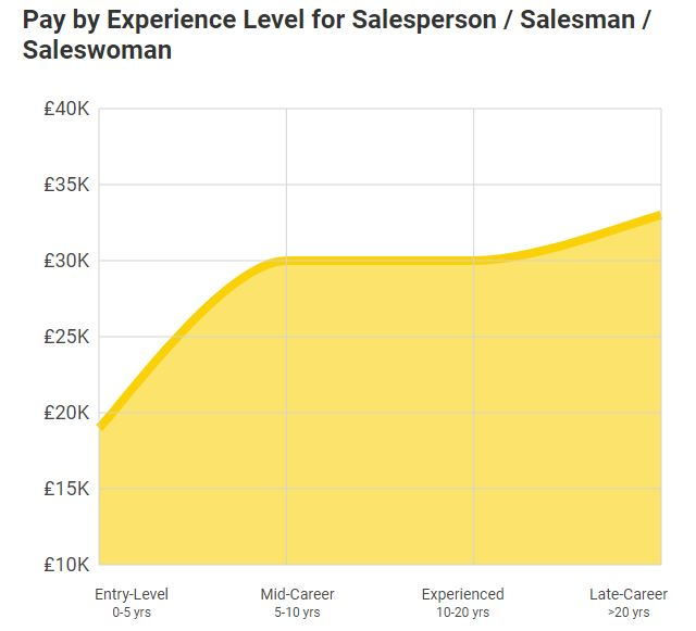 Salesperson average salary 2019