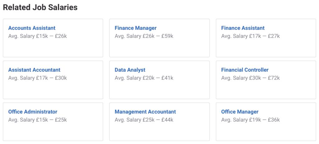 Average UK Salary 2021 - Accounts